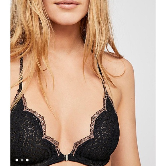 e0d11a19bfcc NWT Free People Slow Dance Lace Front Closure Bra